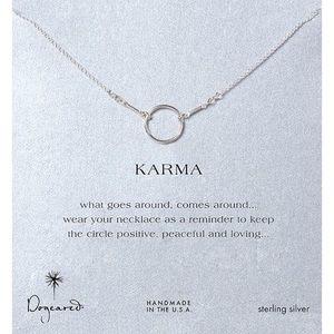 Dog eared karma necklace